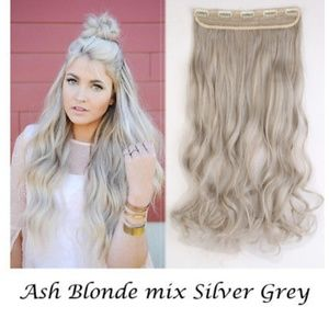 Ash Blonde Full Head clip in Extension